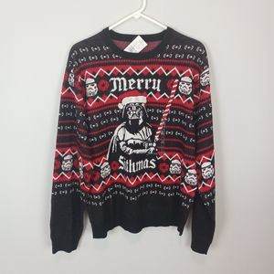 Star Wars Darth Vader Fair Isle Sweater Size XL
